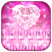 Pink Shiny Crystal Keyboard Theme icon