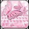 Pink Diamond Butterfly Keyboard ikona