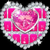 Pink Diamond Keyboard Theme icon