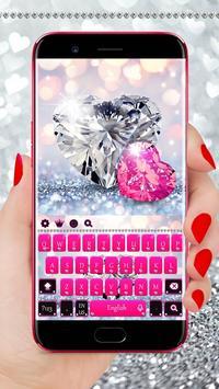 Pink Diamond Keyboard Theme poster