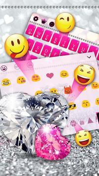 Pink Diamond Keyboard Theme screenshot 2