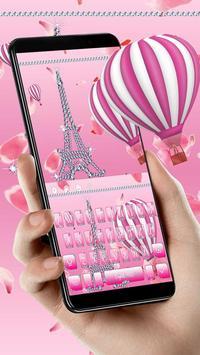 Girly Paris Eiffel Keyboard Theme poster