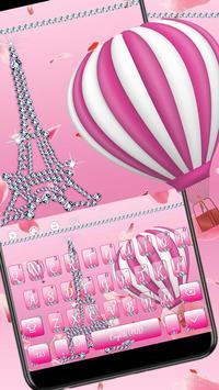 Girly Paris Eiffel Keyboard Theme screenshot 2