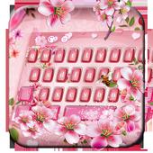 pink flower keyboard bee sakura rose icon