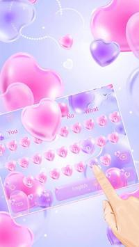 Pink Heart Balloon poster