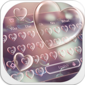 Pink Heart Bubble icon