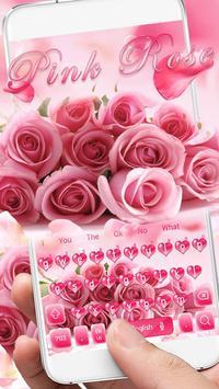 Pink Rose Keyboard Theme screenshot 1