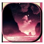 Pink Galaxy Keyboard Free icon