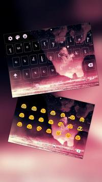 Pink Galaxy Keyboard Free poster
