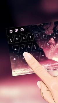 Pink Galaxy Keyboard Free apk screenshot