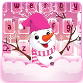 Pink Snow Keyboard Theme icon