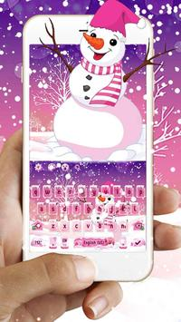 Pink Snow Keyboard Theme poster