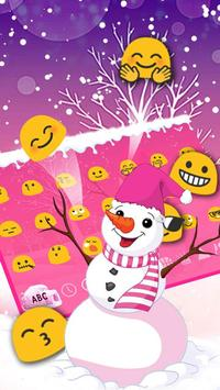 Pink Snow Keyboard Theme apk screenshot