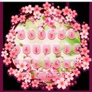 Teclado de flor rosa de verão APK