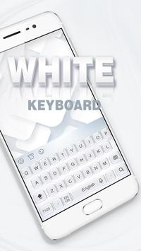 Pure white keyboard poster
