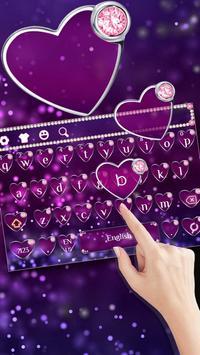 Purple Diamond Heart Keyboard poster