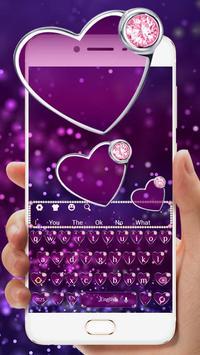 Purple Diamond Heart Keyboard screenshot 1