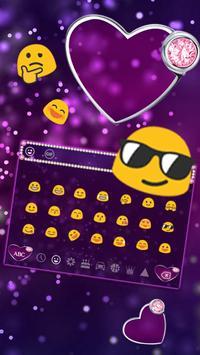 Purple Diamond Heart Keyboard screenshot 2