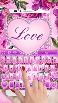 Diamond Flower Keyboard poster