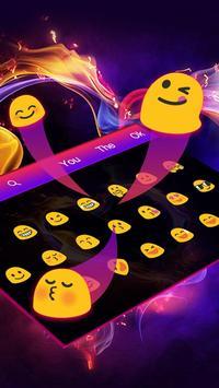 Neon Heart Keyboard Theme screenshot 1