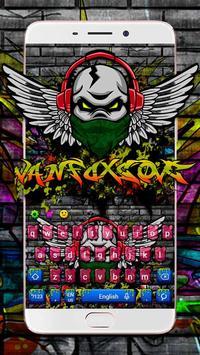 Rock Graffiti Skull Keyboard Theme poster