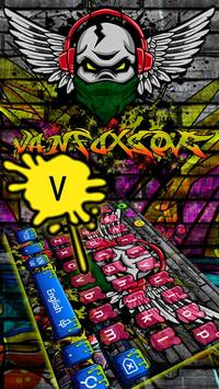 Rock Graffiti Skull Keyboard Theme apk screenshot