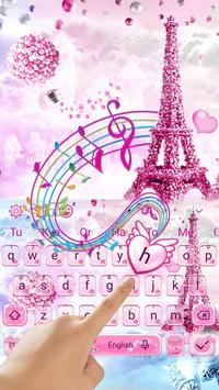 Romantic  Love Keyboard Theme capture d'écran 1