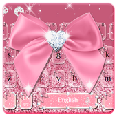 Rose Gold Diamond Bow Keyboard icon