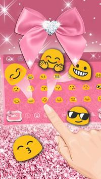 Rose Gold Diamond Bow Keyboard apk screenshot