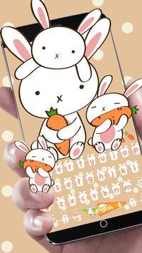 Rabbit Eat Carrot Keyboard poster