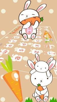 Rabbit Eat Carrot Keyboard apk screenshot
