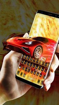 Red Super Car poster