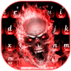 Red Flame Skeleton Keyboard-icoon