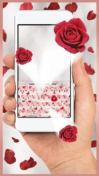 Red Rose Petals Keyboard Theme poster