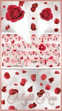 Red Rose Petals Keyboard Theme apk screenshot