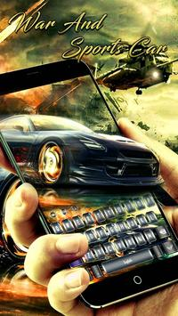 War And Sports Car Keyboard poster