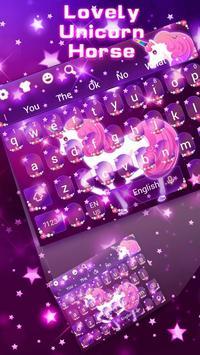 Galaxy Unicorn Keyboard poster