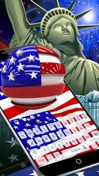 USA Flag Keyboard poster