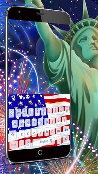 USA Flag Keyboard screenshot 1