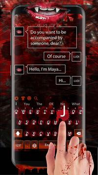 Vampire Lips Keyboard apk screenshot