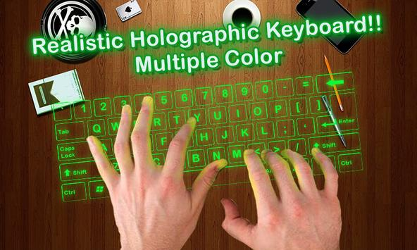 Simulator 3D Keyboard Hologram poster