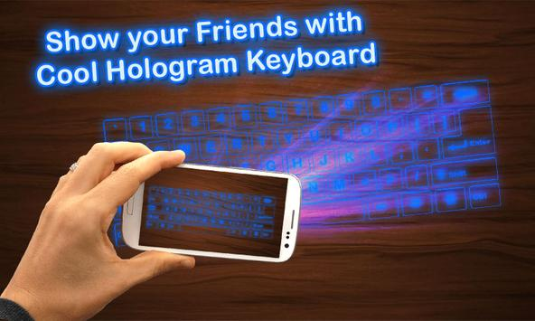 Simulator 3D Keyboard Hologram apk screenshot