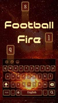 Football Fire Keyboard poster