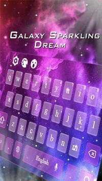 Electronic Purple Galaxy Theme poster