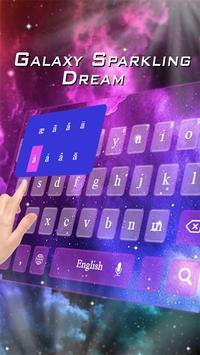 Electronic Purple Galaxy Theme apk screenshot