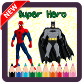 New Coloring Superhero for Kids icon