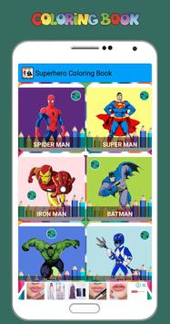 New Coloring Superhero for Kids poster