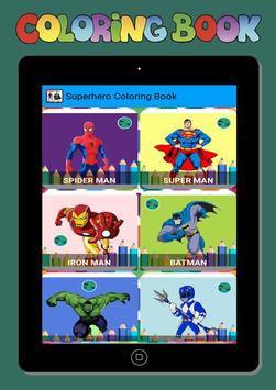 New Coloring Superhero for Kids screenshot 3