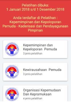 KEMENPORA - Pengembangan Pemuda Online screenshot 1