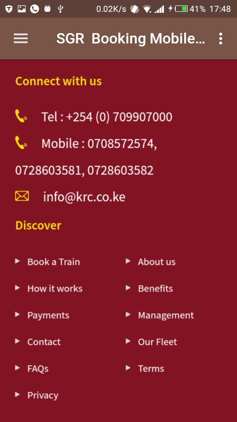 SGR Booking Mobile Application for Android - APK Download